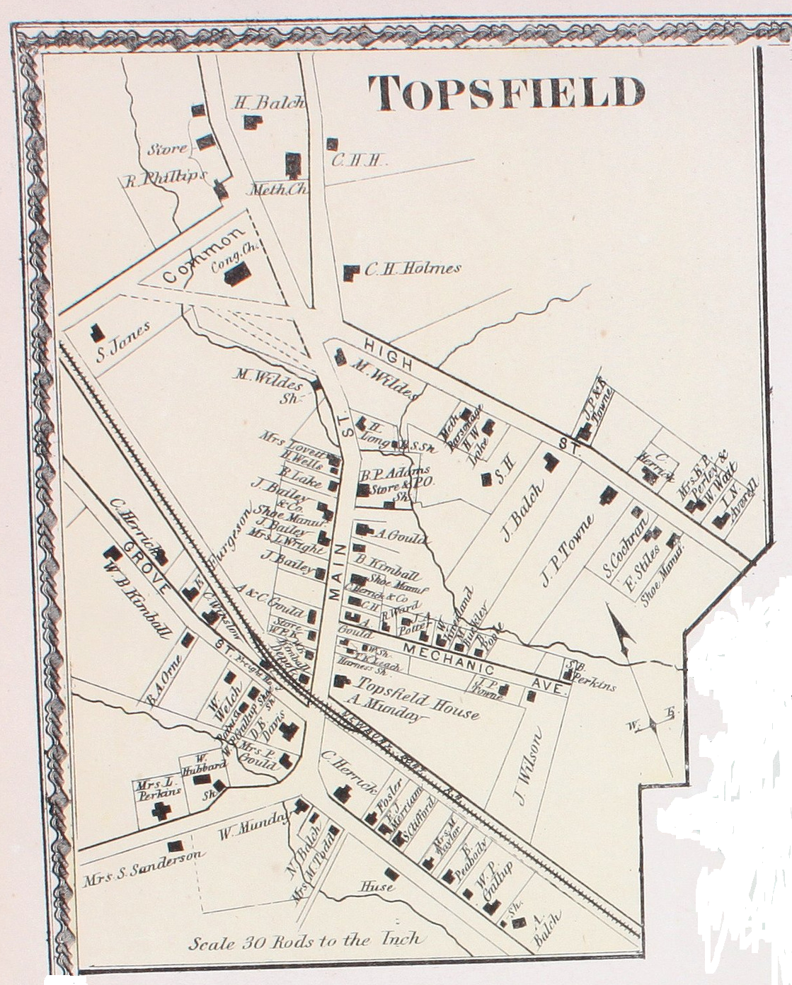 Map of Topsfield